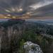 Západ slunce v Saském Švýcarsku