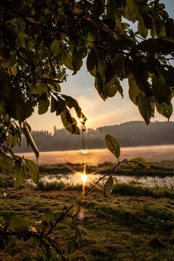 Východ Slunce nad Slezskou Hartou