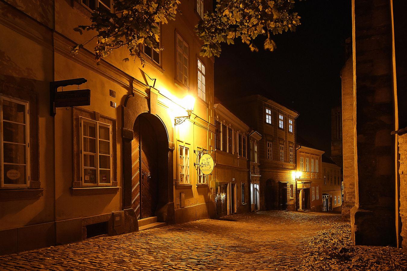 Podzimní noc v Kutné Hoře