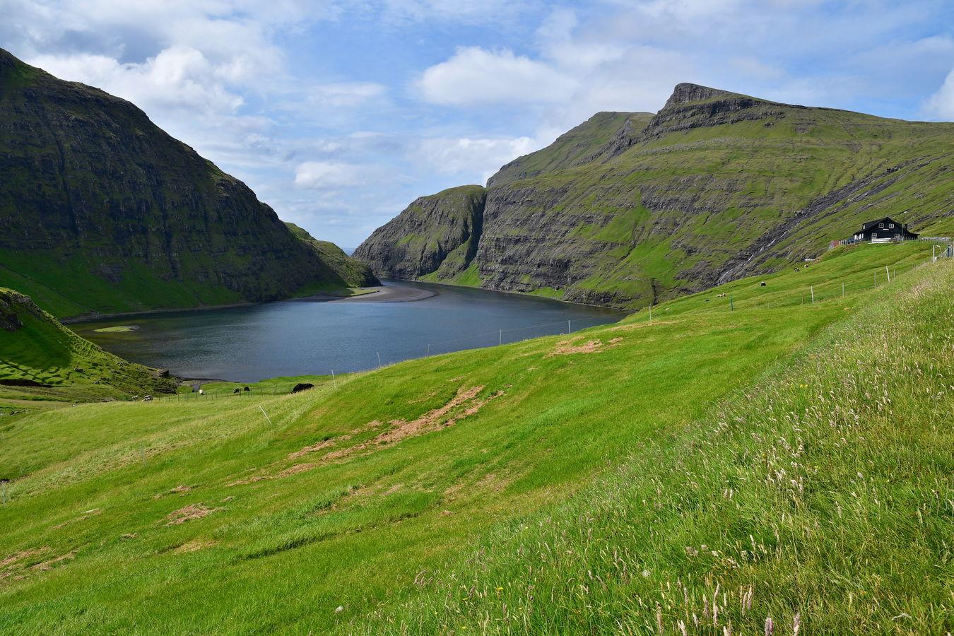 Jeden z fjordů Faerských ostrovů