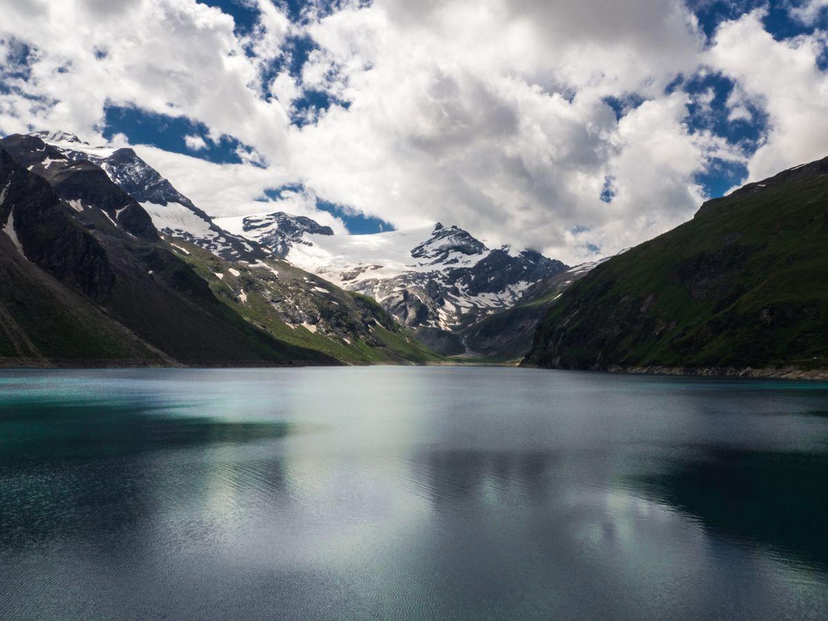Jezero Mooserboden a Kapruner Törl