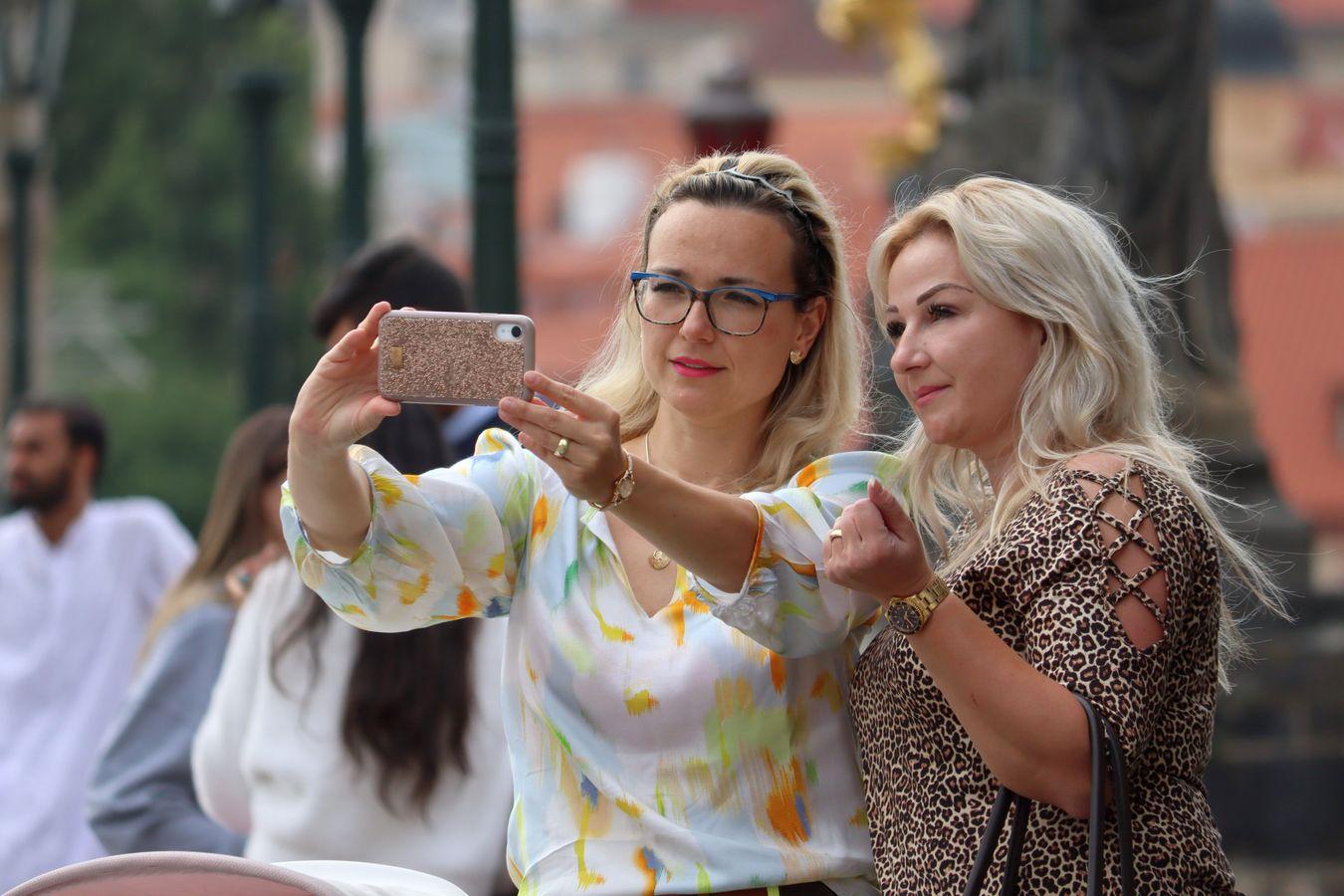 Selfie a bokeh