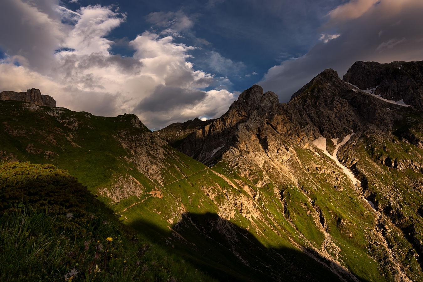 Západ na Passo di Giau