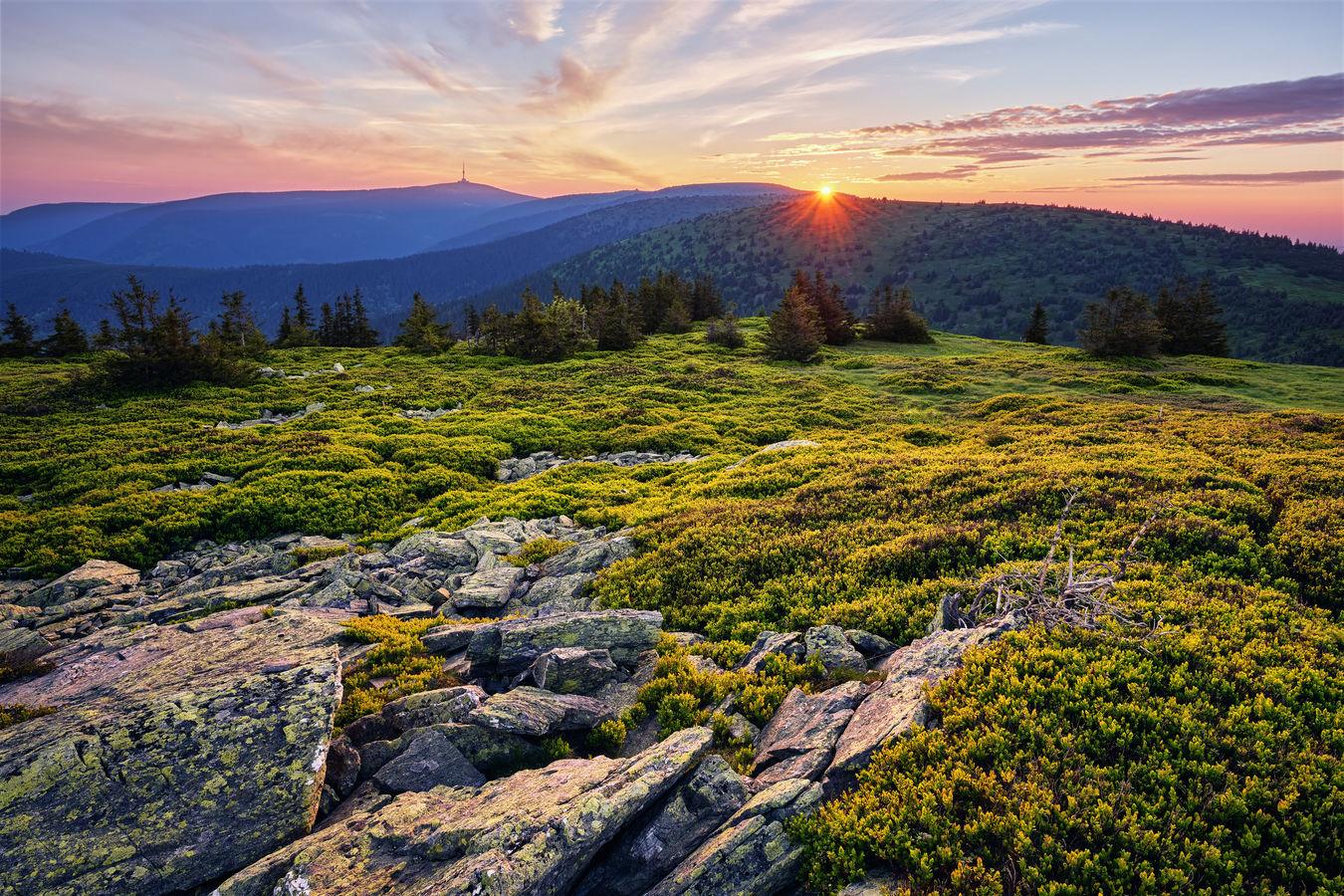 Ráno na Břidličné hoře
