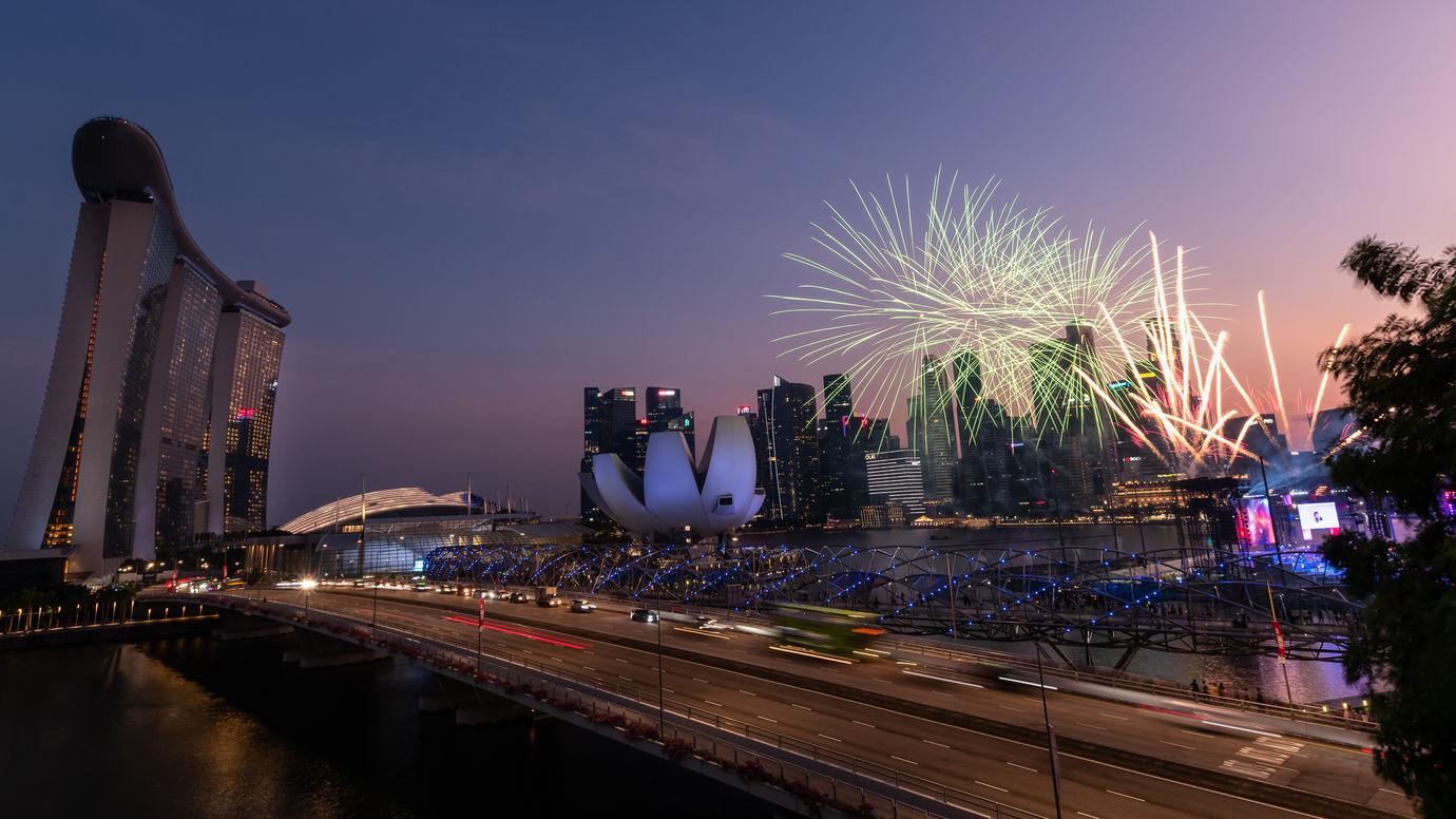 Zkoušky na Národní den Singapuru