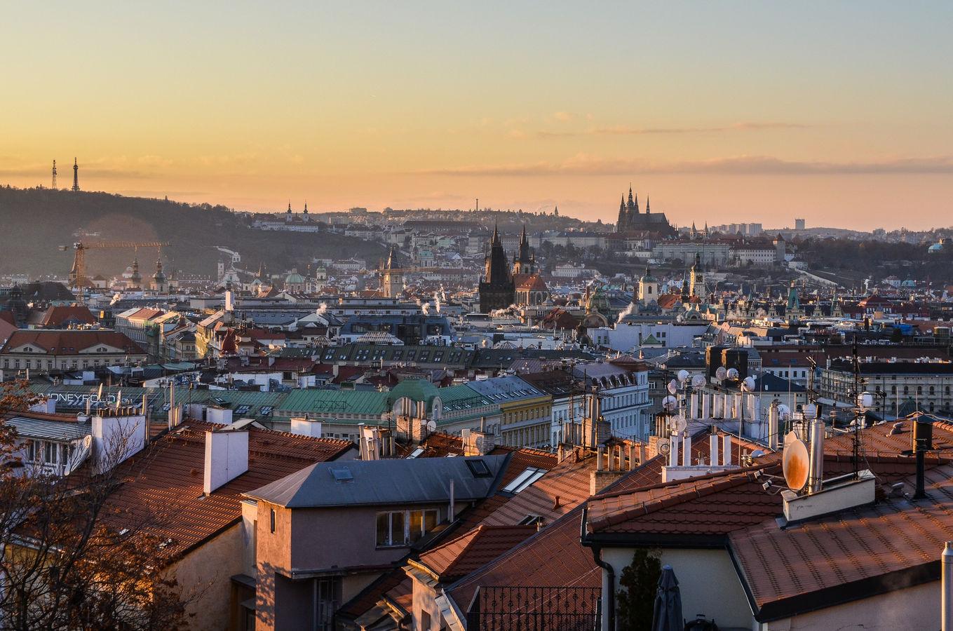 Praha počas zlaté hodiny