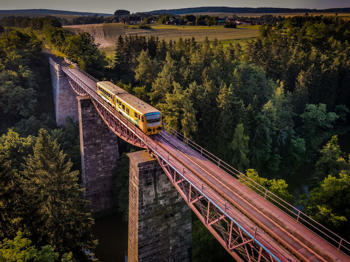 Železniční most Chrást u Plzně