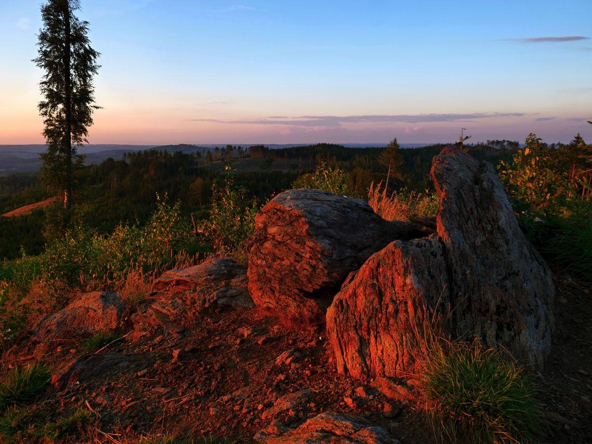 Orlík  vrchol při západu