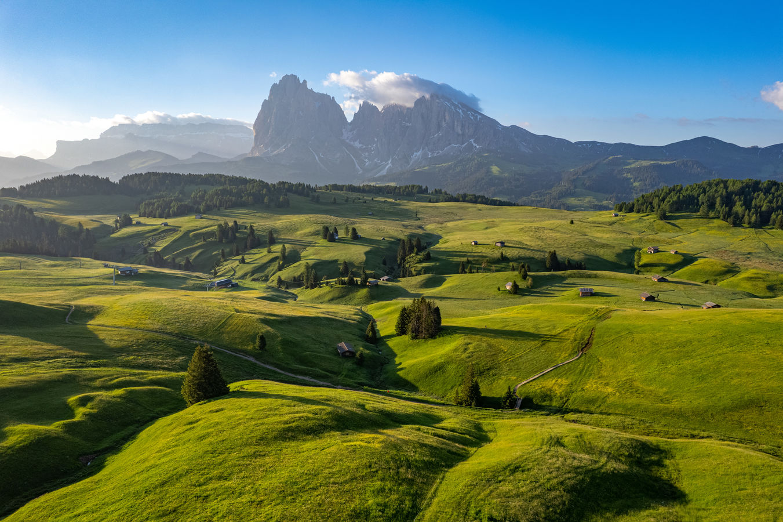 Alpe di Siusi z výšky