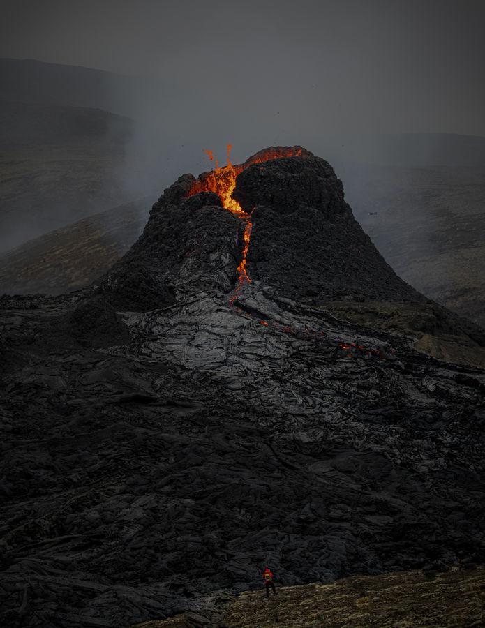 Počátek erupce