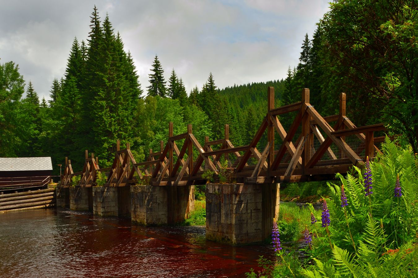 Most přes řeku Vydru
