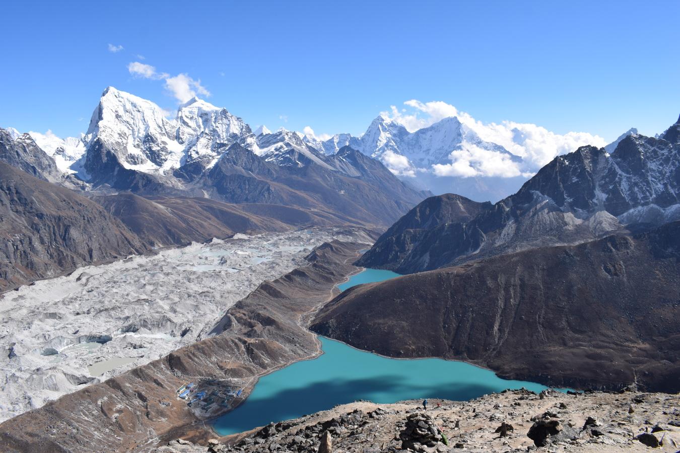 Jezero Gokyo, Khumbu, Nepál.