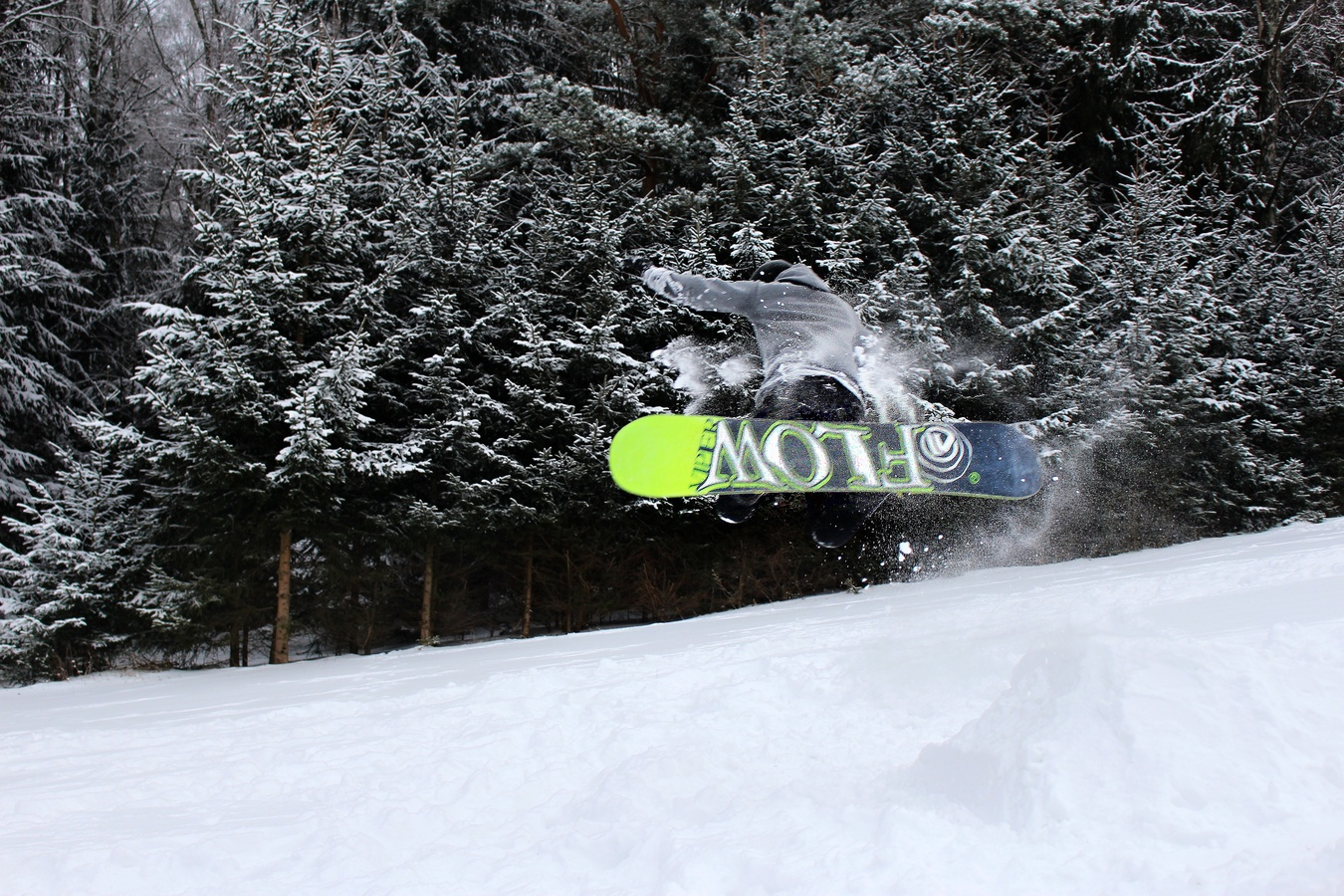 skok do sněhu