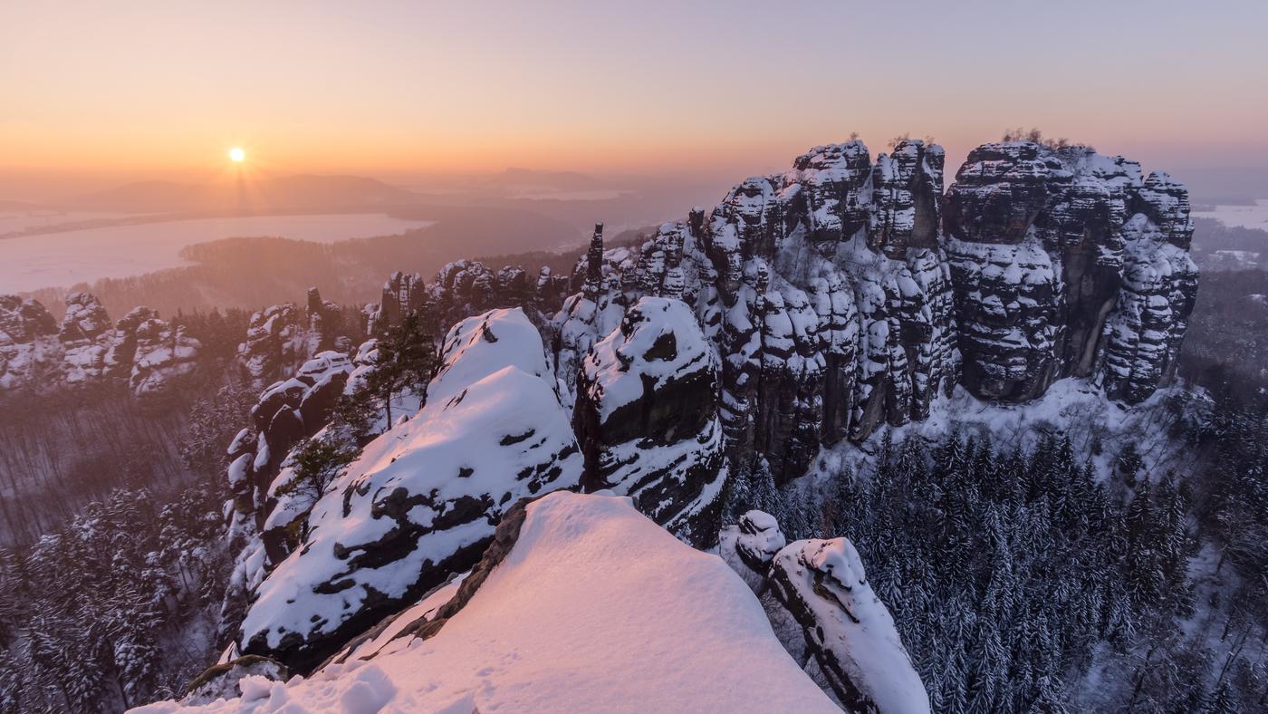 Zimní Schrammsteine