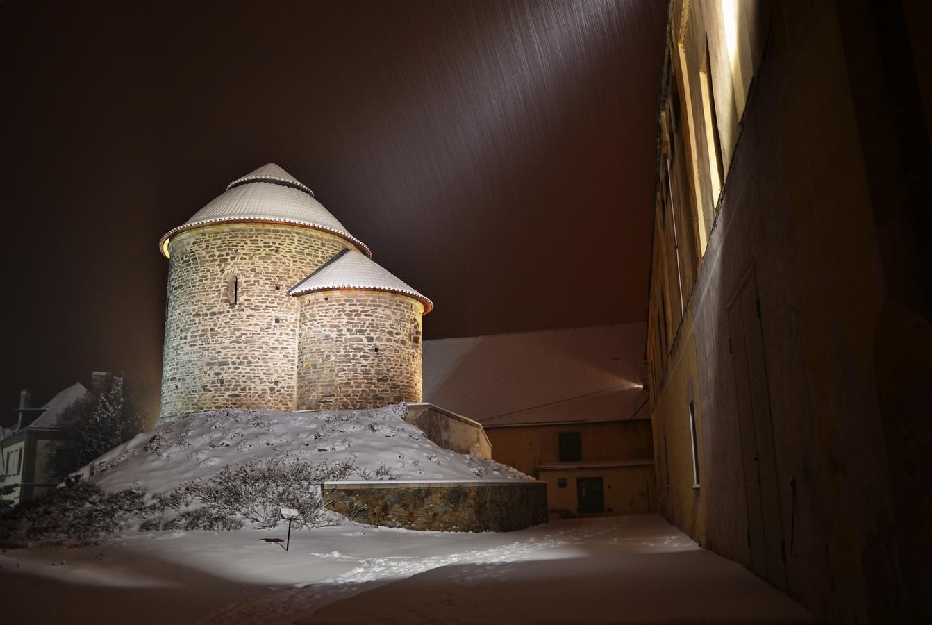 Rotunda sv. Kateřiny ve sněhové peřině
