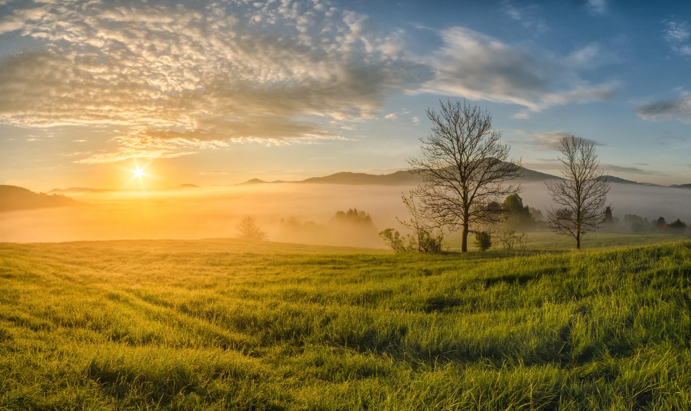 Východ slunce u Křížového vrchu