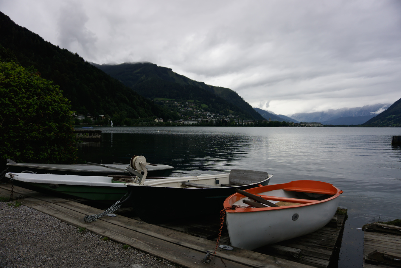 Zell am See po dešti
