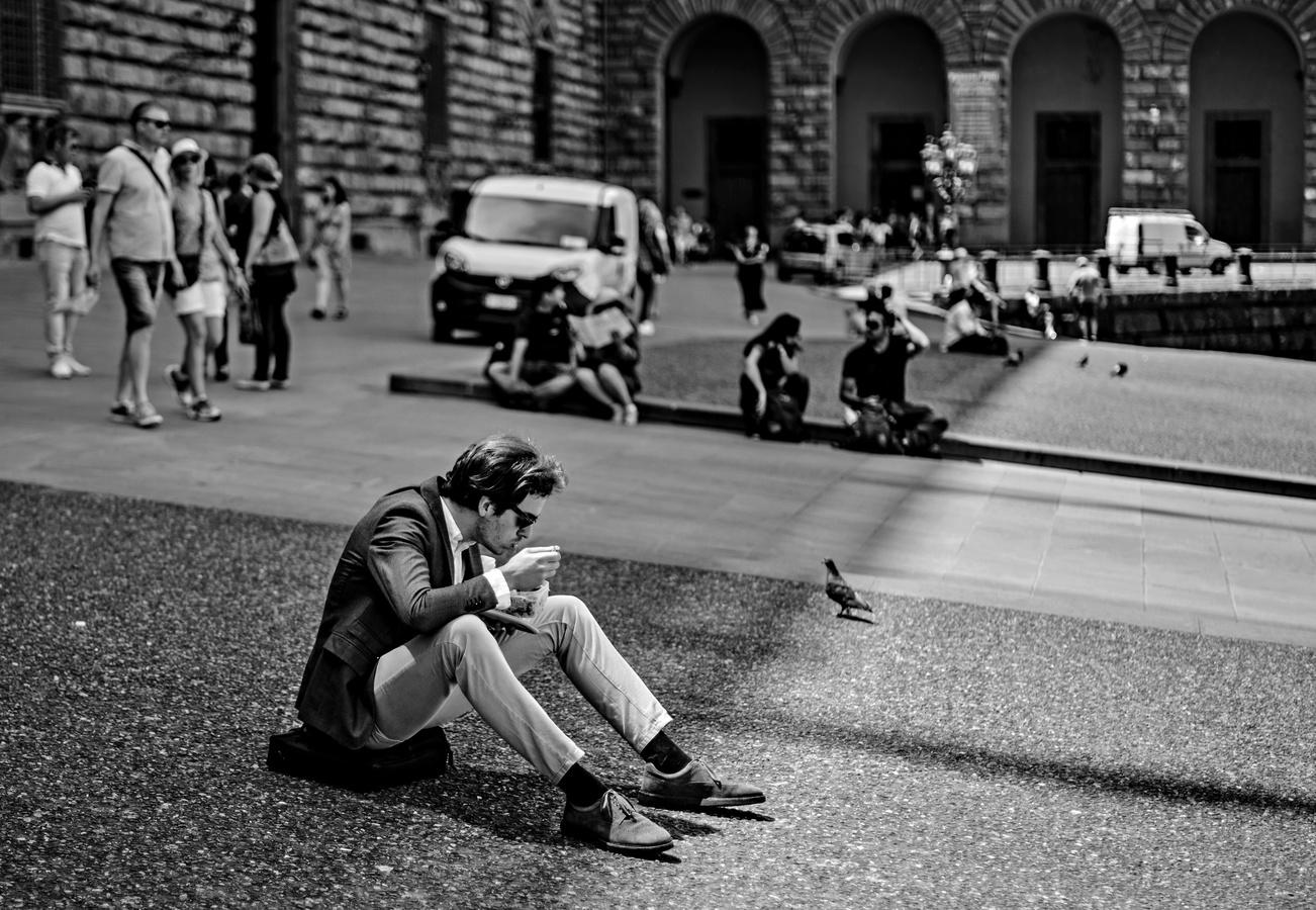 Na obědě s holubem
