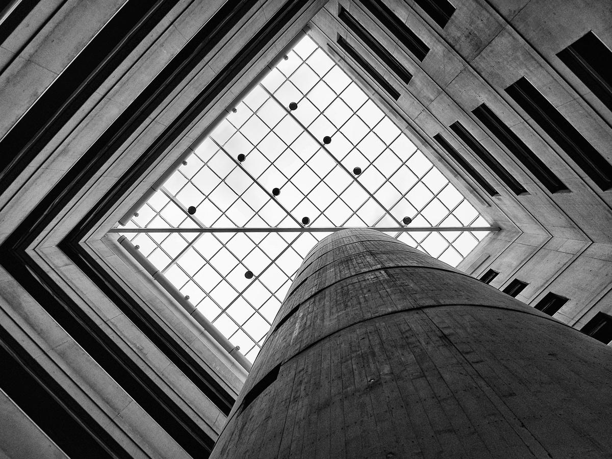 Interiér budovy Fakulty architektury ČVUT v Praze - Dejvicích