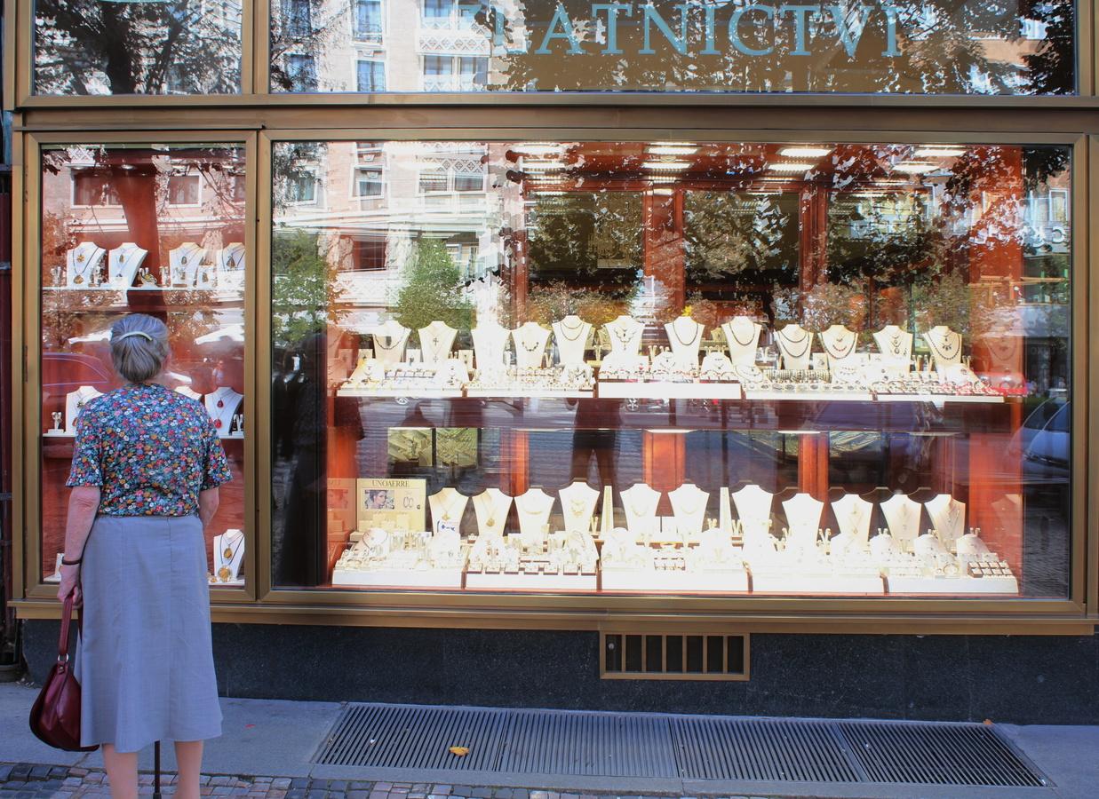 Momentka z Prahy - Výběr zlatého šperku