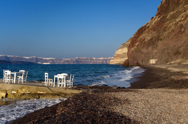 Konec sezóny na ostrově Santorini