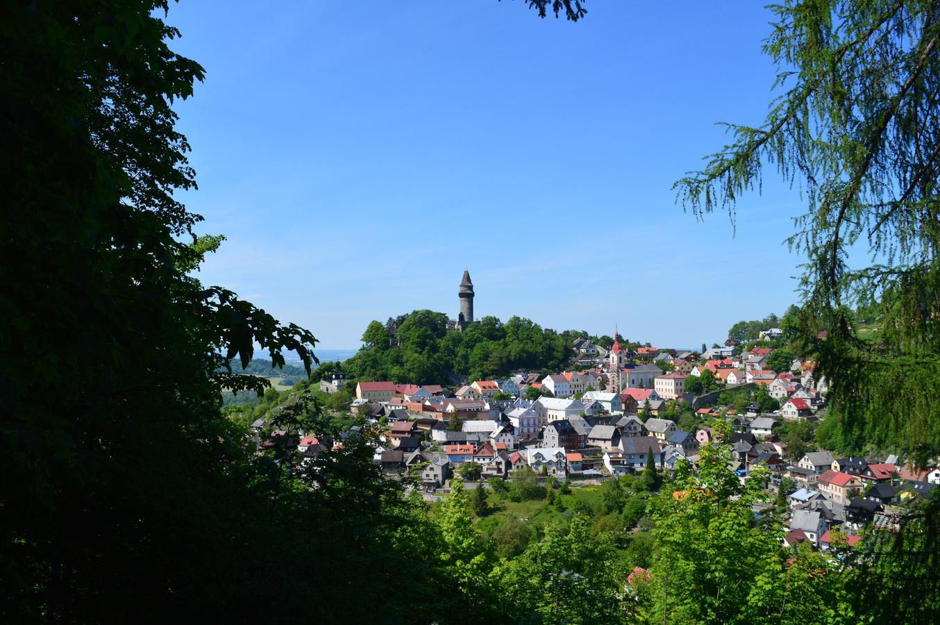 Pohled na město Štramberk...
