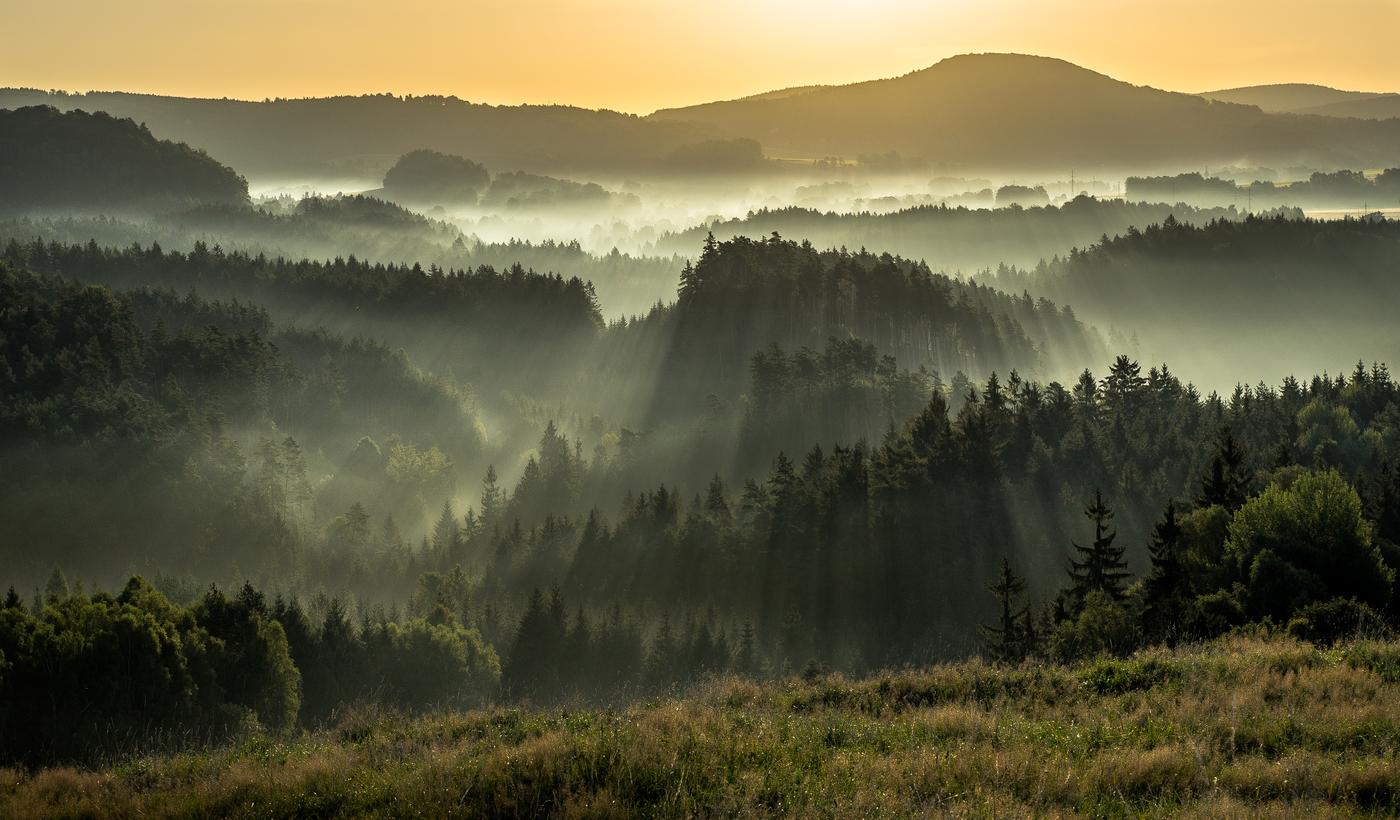 Svítání z Křížového vrchu