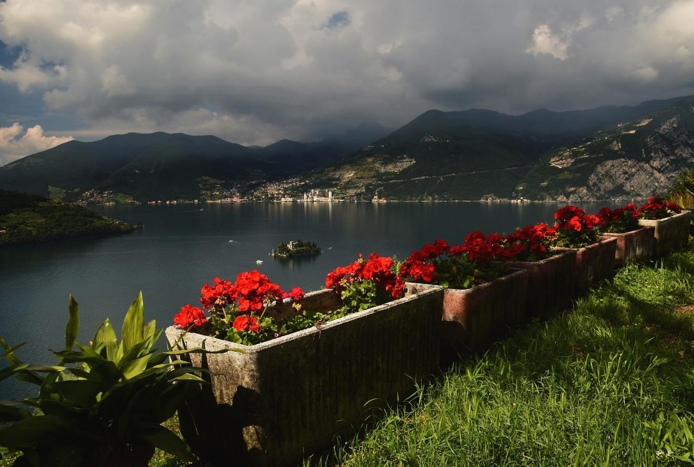 Lago di Iseo - muškátový pohled :-)