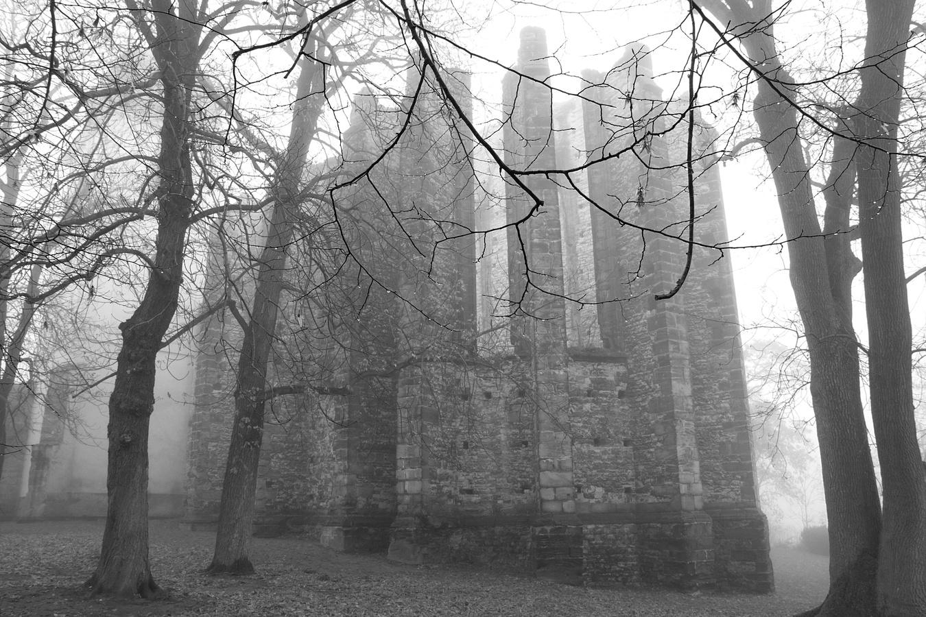 Nedostavěný gotický chrám Panny Marie v Panenském Týnci