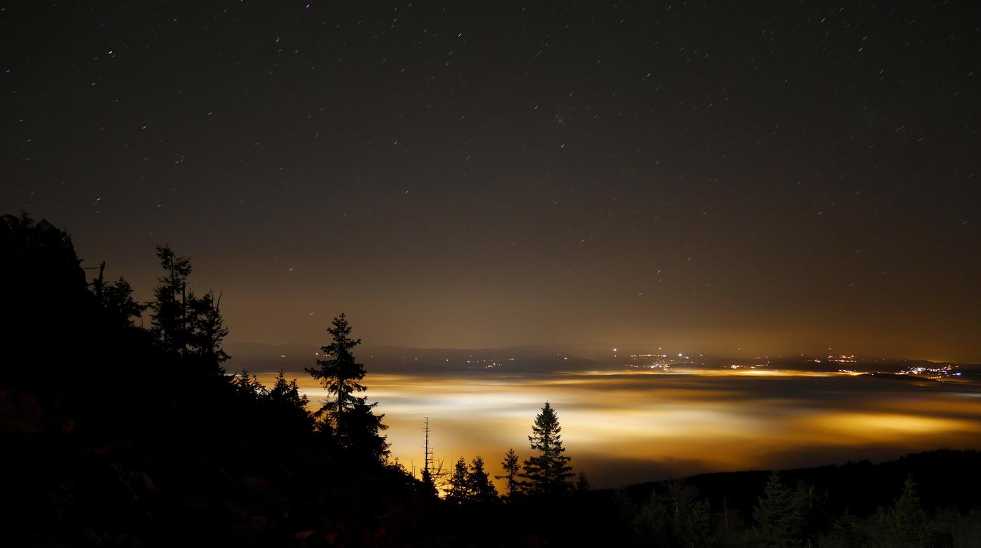 Noční inverze nad Libercem
