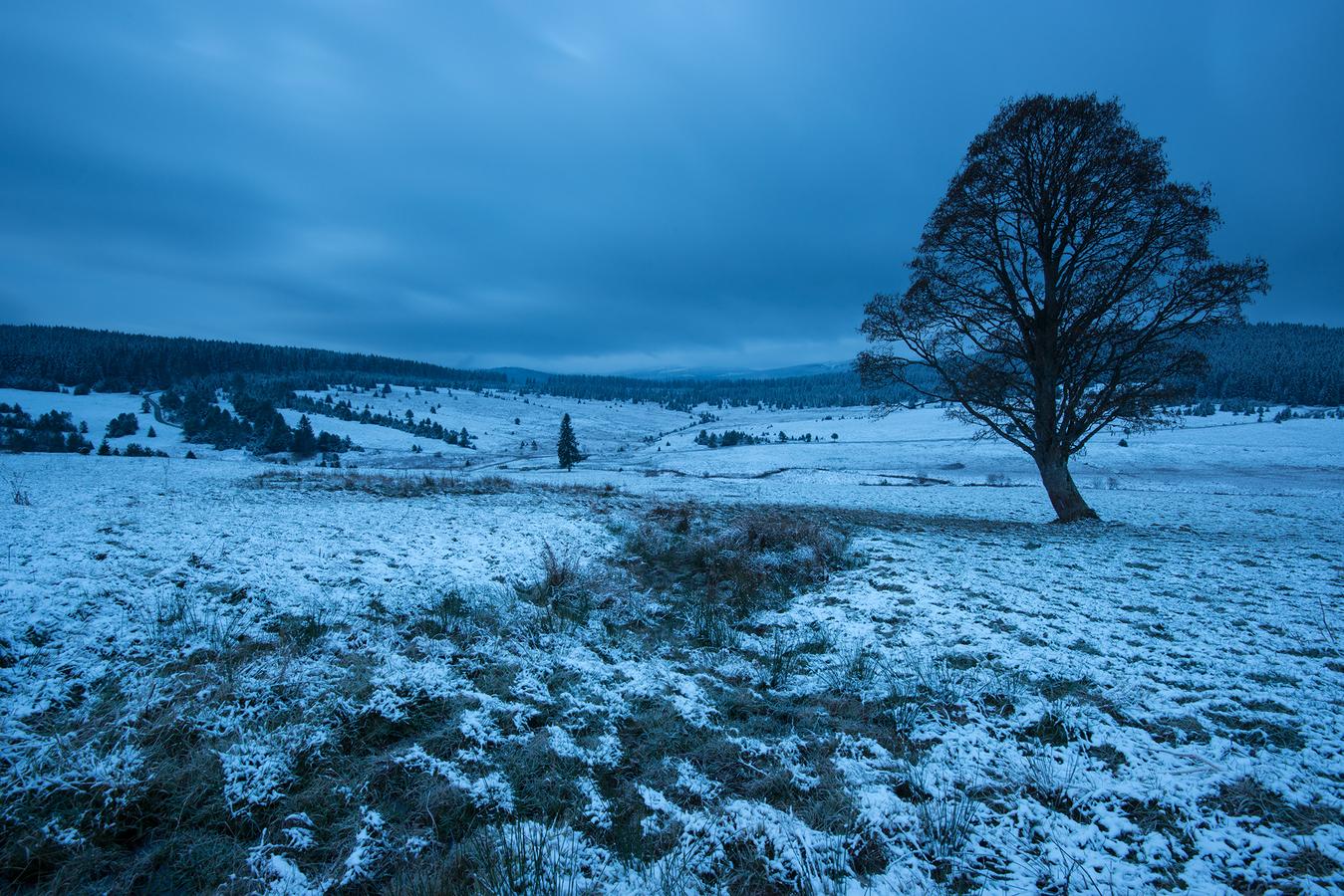 Příchod zimy na Zhůří