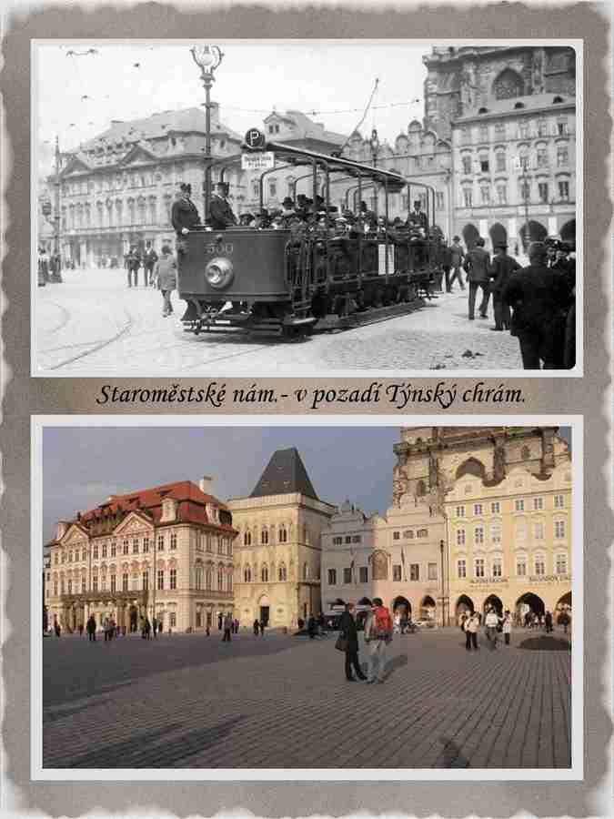 Když na Staroměstském nám. jezdila tramvaj