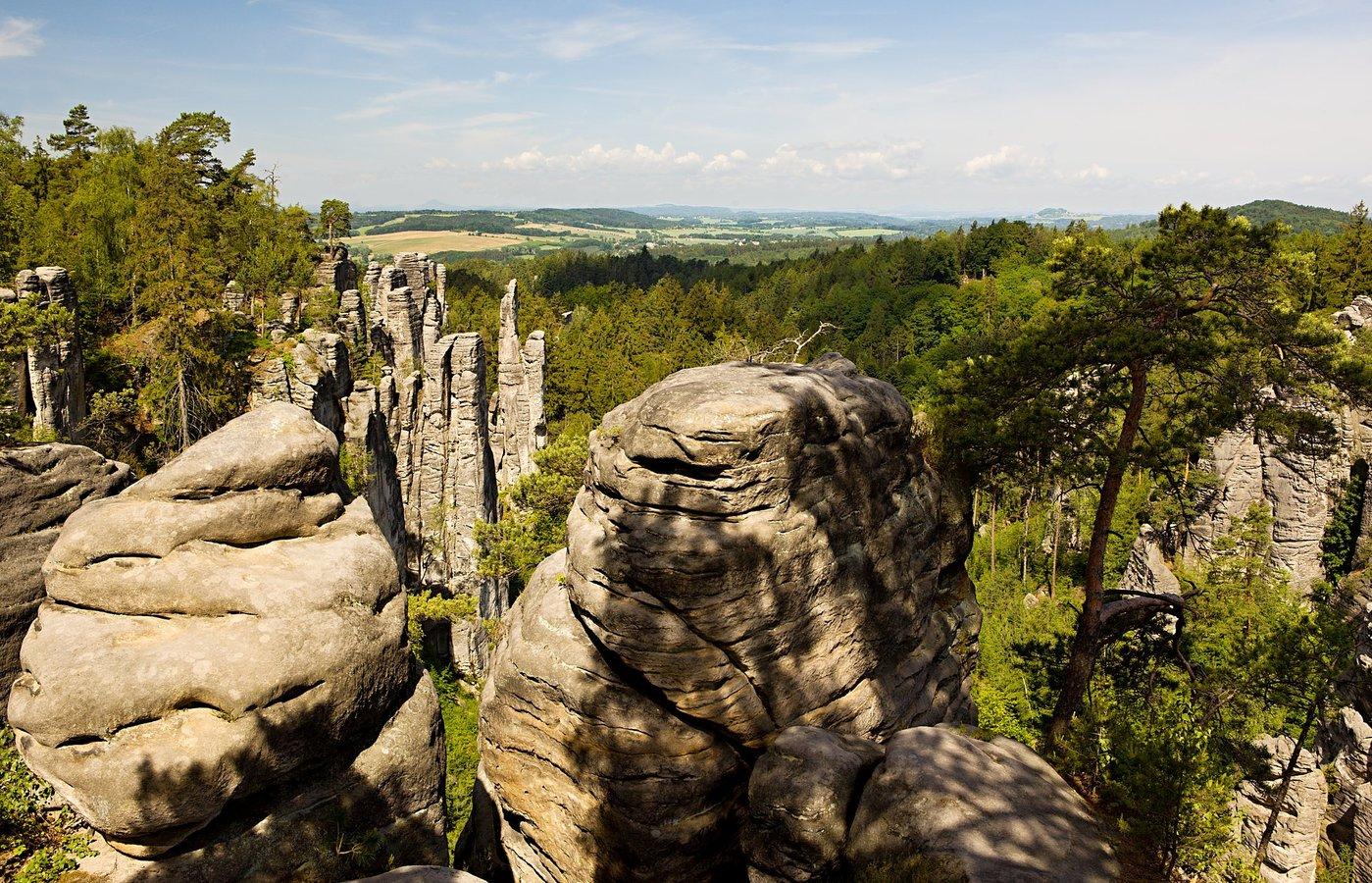 ...v Prachovských skalách....