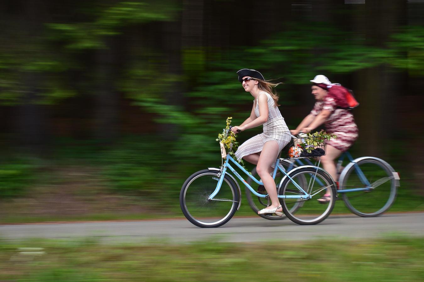 Zábava na kole ..