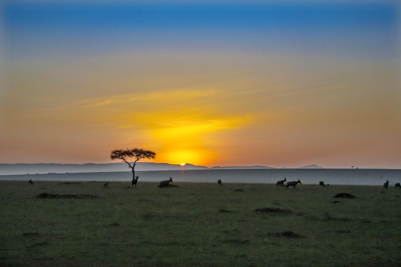 Východ slunce v Keni