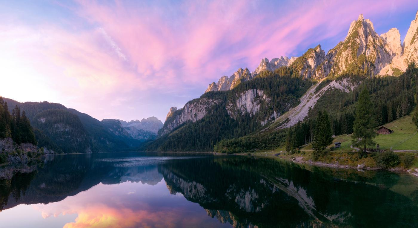 Nádherné ranní Alpy