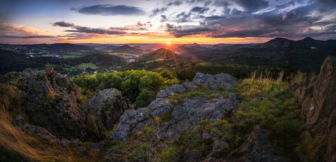 Západ ze Středního vrchu