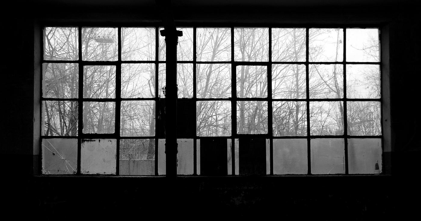 Pohled z okna továrny