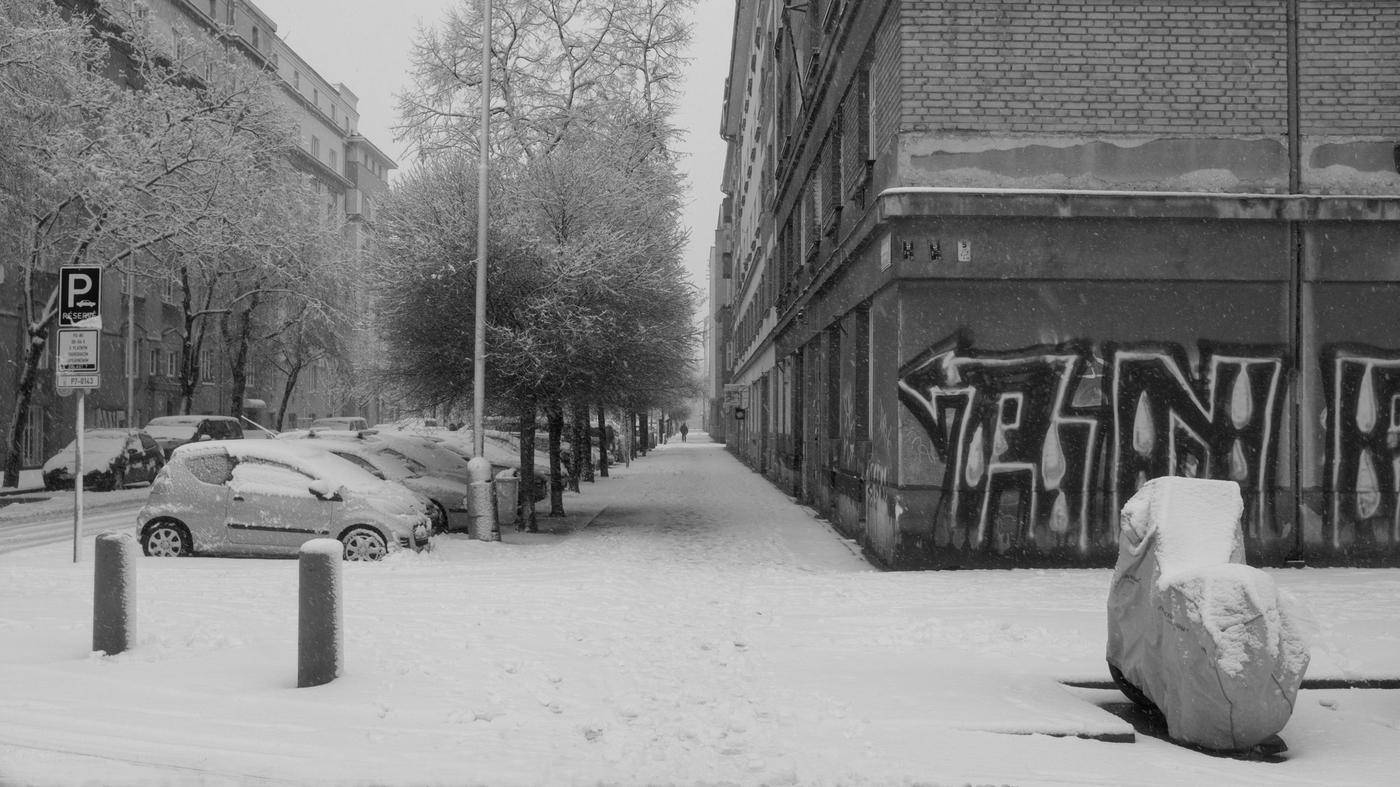Zima v naší ulici