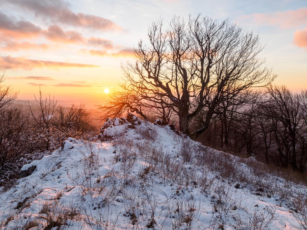 Západ slunce na Vysoké - Malé Karpaty