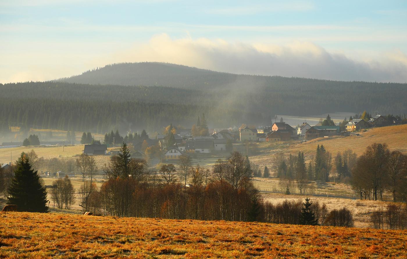 ranní šumavská Kvilda