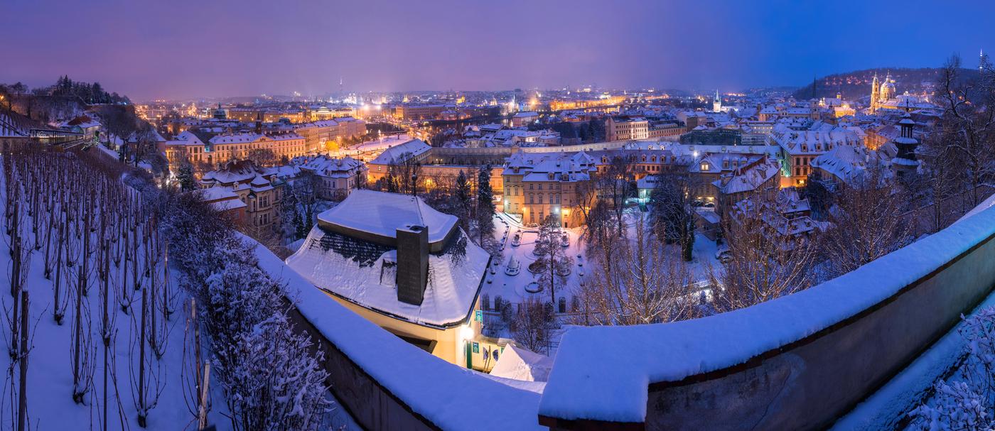 zimní sen o Praze