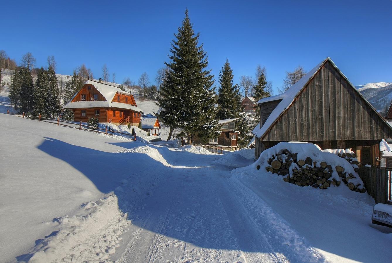 Zima na Hutách