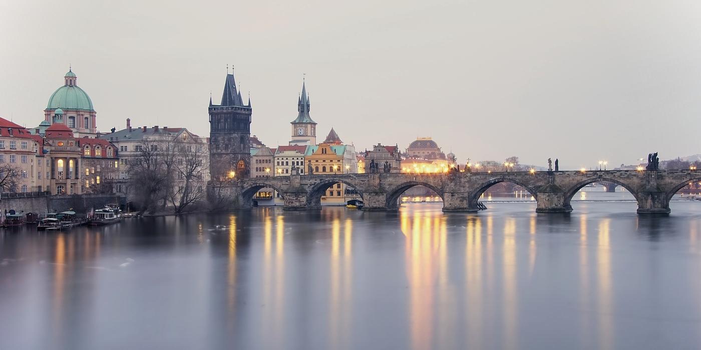 Praha ve smogovém oparu