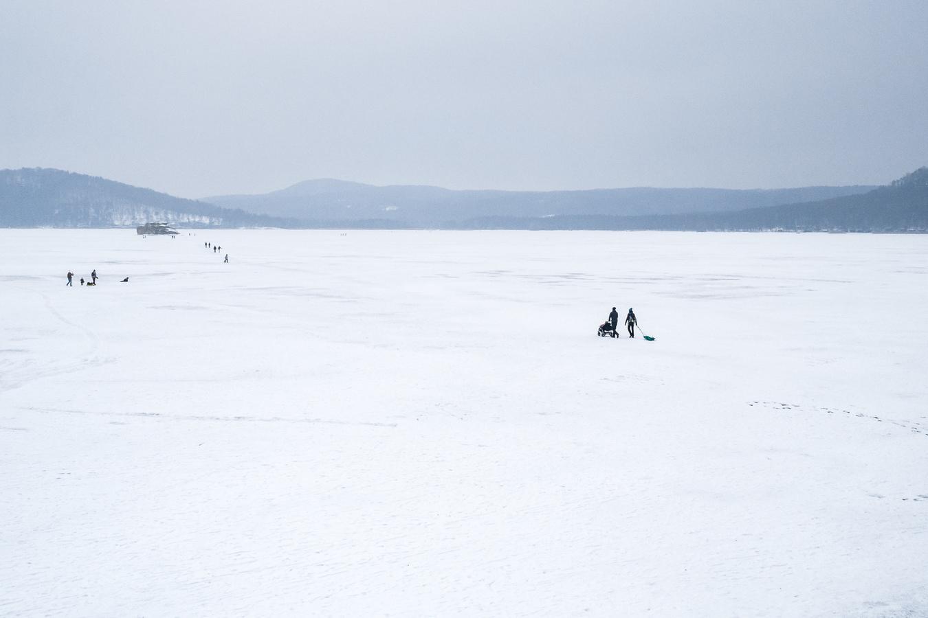 Zimní procházka k ostrůvku