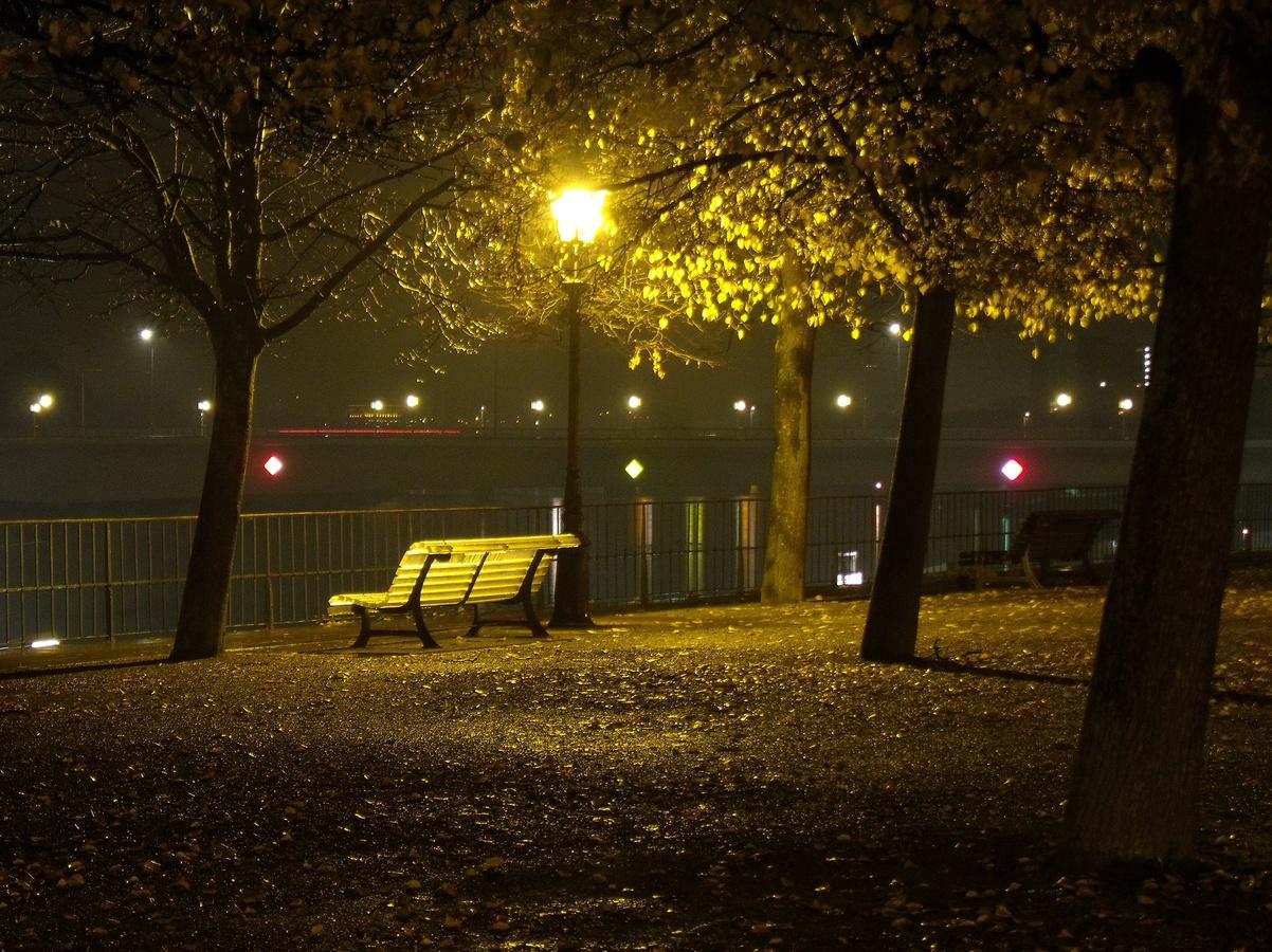 Svítící lavička ...