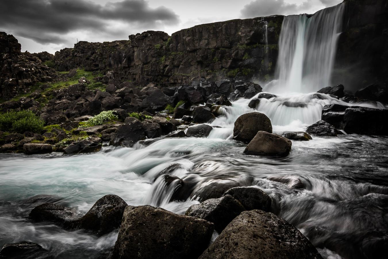 Vodopád v Þingvelliru