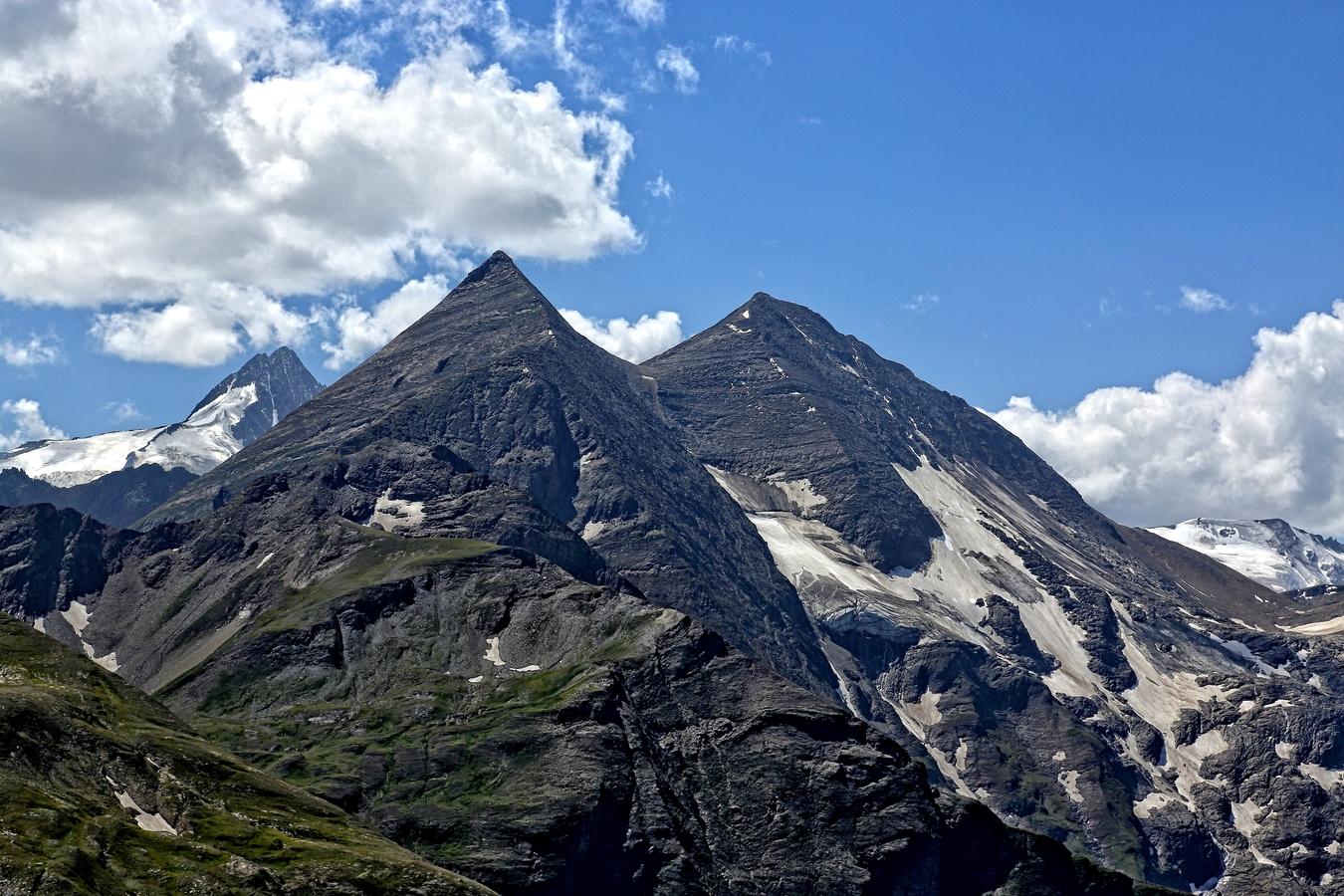 Großglockner3798 m-Sinwelleck 3261m-Fuscherkarkopf 3331 m