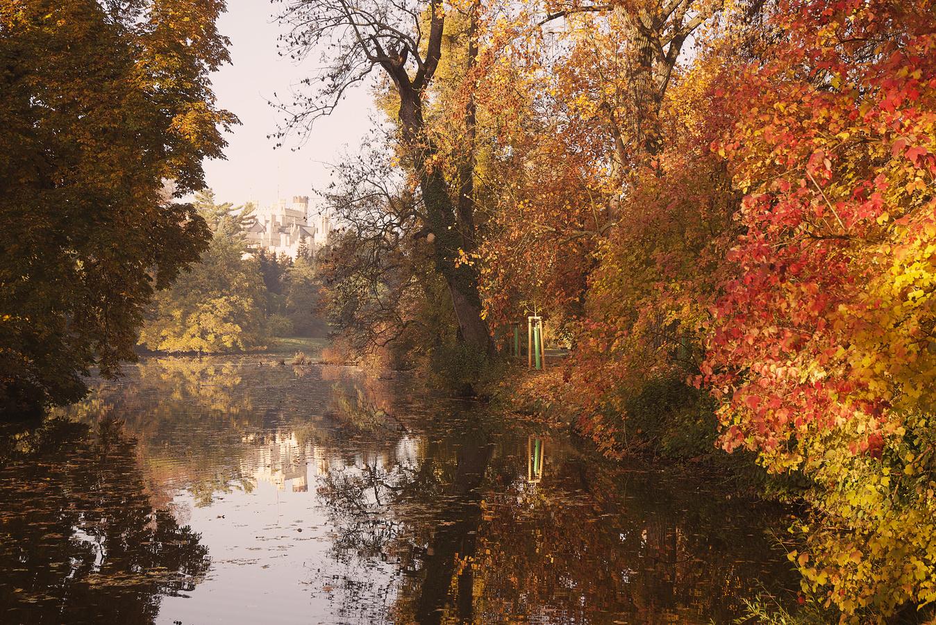Podzim u zámeckého rybníčku