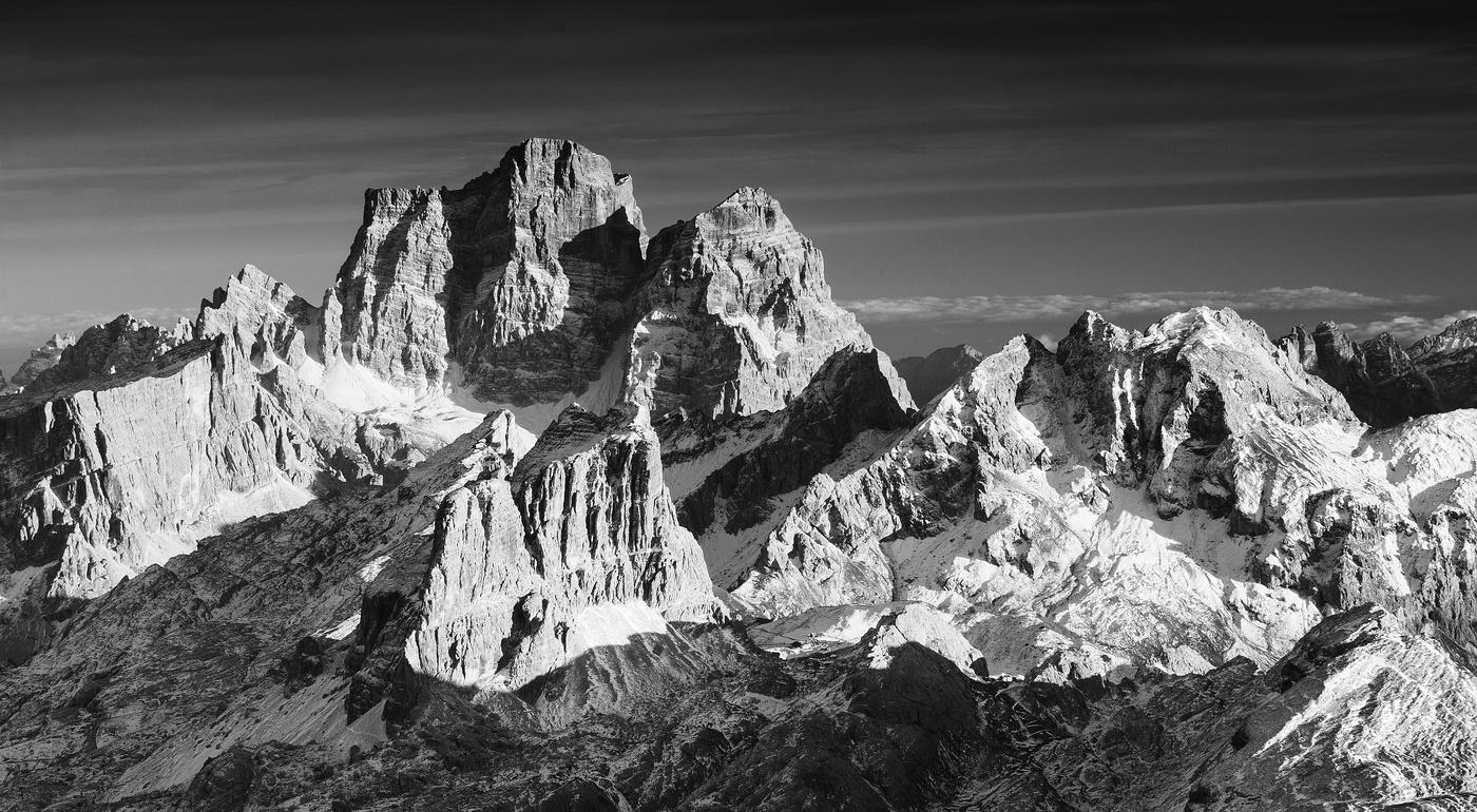 černobílé Dolomity
